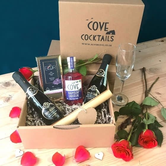 Prosecco and Damson Liqueur Cocktail Kit, Valentine's Gift