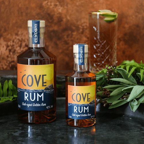Devon Cove Rum 50cl and 20cl with Moscow Mule
