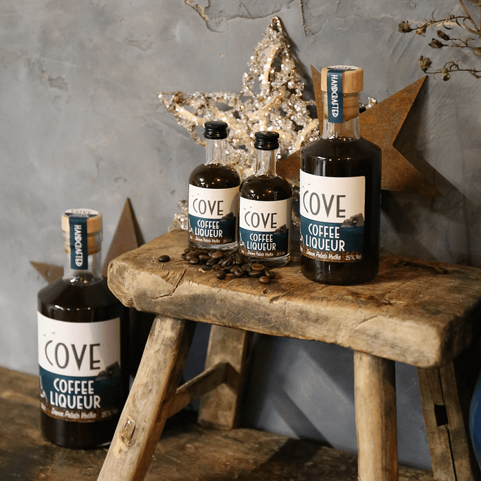 50cl, 20cl and 5cl Cove Coffee Liqueur