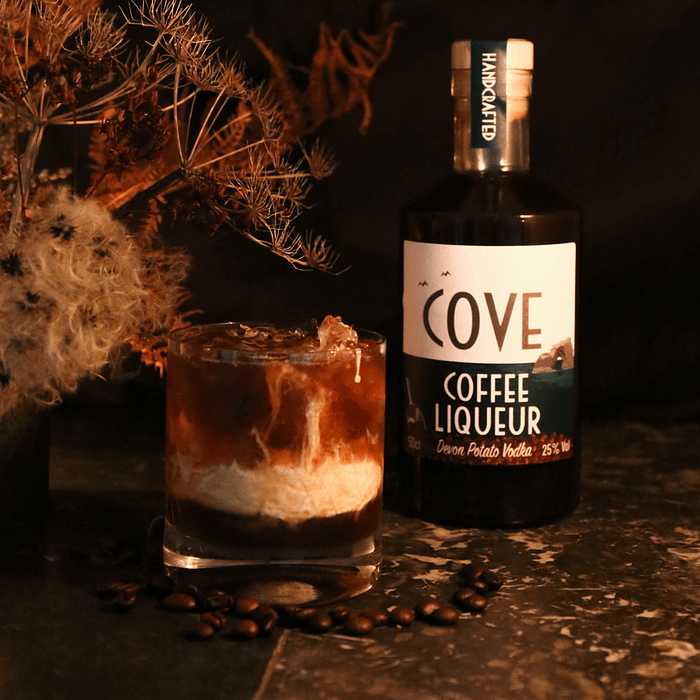 White Russian Cocktail and Coffee Liqueur